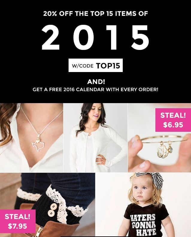 20% off TOP 15 Cents of Style Products of 2015