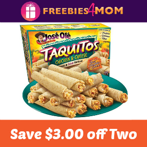 $3.00 off two José Olé Taquitos or Snack Items