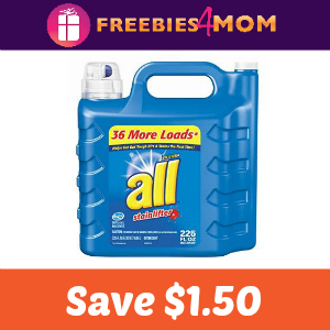 Save $1.50 off one all Liquid Detergent