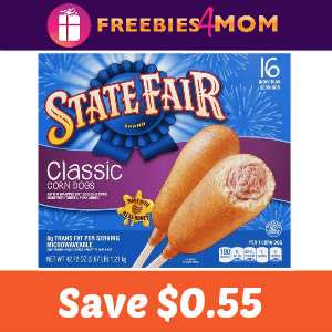 Coupon: Save $0.55 off any State Fair Corn Dog