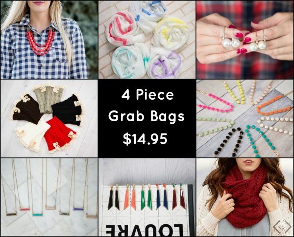 4 Piece Accessory Grab Bag $14.95
