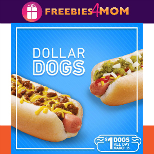 $1 Hot Dogs at Sonic March 16