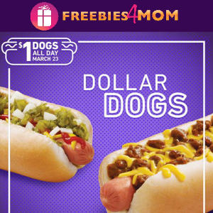 $1 Hot Dogs at Sonic March 23