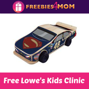 Free Pullback Car Kids Clinic at Lowe's March 24