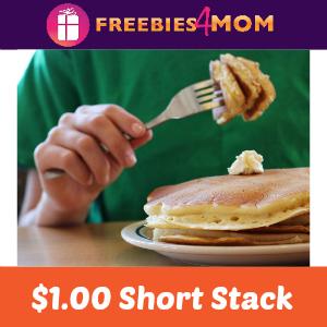 $1.00 Short Stack at IHOP March 17