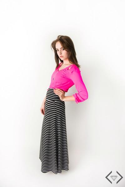 $12.95 Striped Maxi Skirt