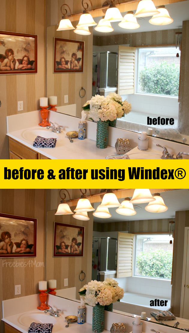 Spring Cleaning my Master Bathroom with Windex® Brand from Walmart