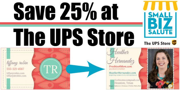 Save 25% at THE UPS STORE with this coupon code