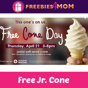 Free Ice Cream Cone at Carvel Today 3-8 PM