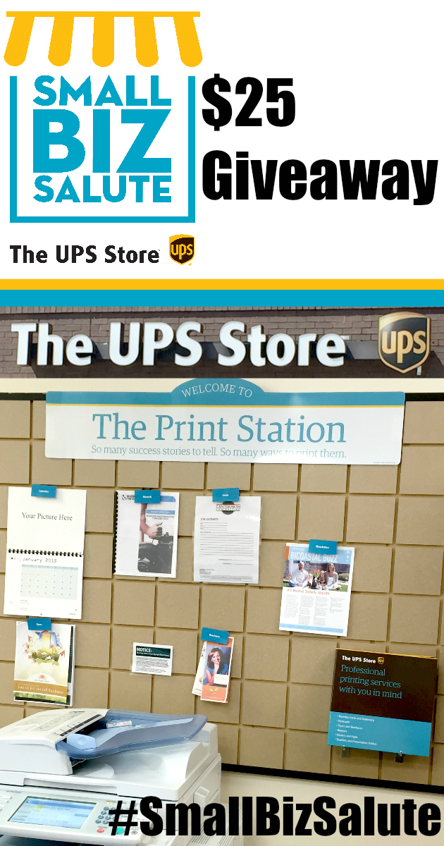 $25 The UPS Store Giveaway ~ 25% off Coupon Code #SmallBizSalute