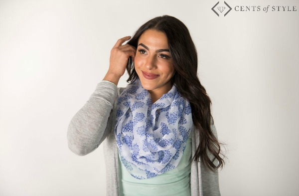 $7.95 Damask Infinity Scarf + Free Earrings