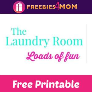 Free Laundry Room Art Printables