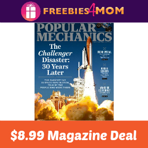 Magazine Deal: Popular Mechanics $8.99