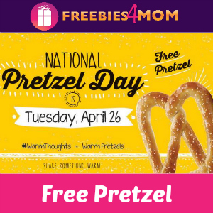 Free Pretzel at Pretzelmaker April 26