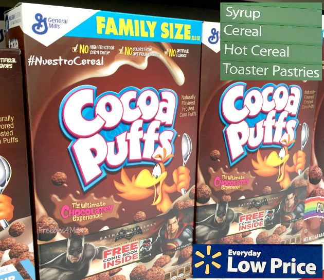Buying Cocoa Puffs Cereal at Walmart to make Coconutty Cocoa Puffs Bars Recipe