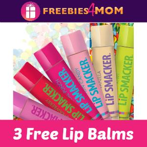 3 Free Lip Smacker Lip Balms