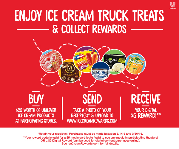 Ice Cream Truck Treats Sweepstakes and Rewards