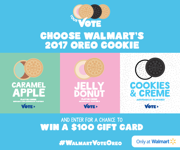 Choose Walmart's 2017 OREO Cookie Flavor and Win a $100 Gift Card