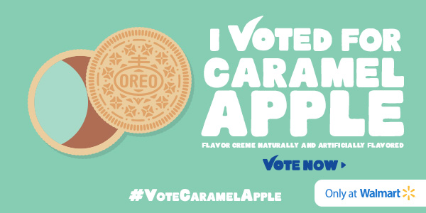 Vote for OREO and Win a $100 Walmart Gift Card