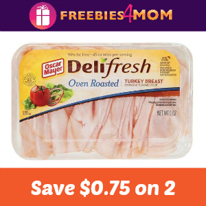 Coupon: Save $0.75 on 2 Oscar Mayer Lunch Meat