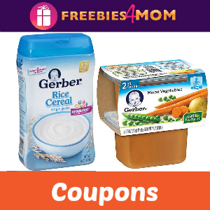 Coupons: Save on Gerber Baby Food