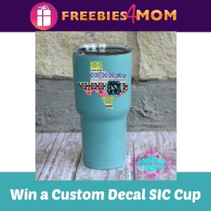 Sweeps Win a Custom Decal SIC Cup