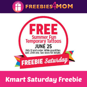 Free Summer Fun Temporary Tattoos at Kmart