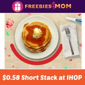 $0.58 Short Stack at IHOP July 16
