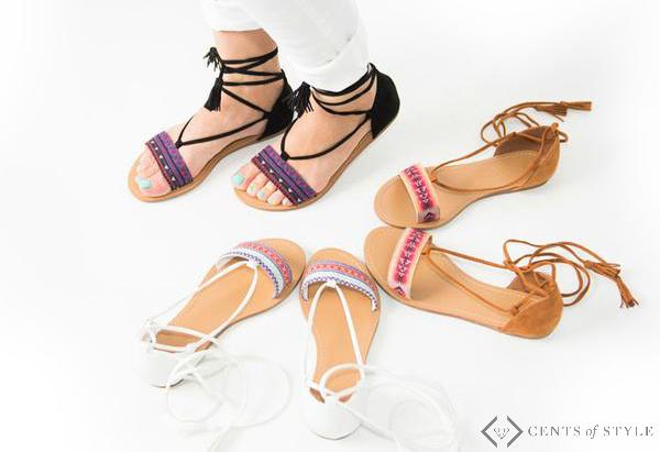 50% Off Lace Up Sandals & Ballet Flats