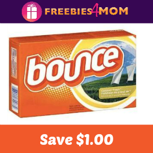 Coupon: $1.00 off one Bounce Dryer Sheets