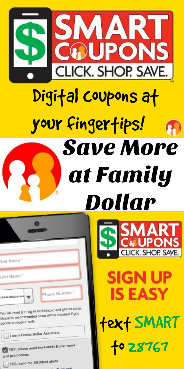 New Family Dollar Smart Coupons help you save money!