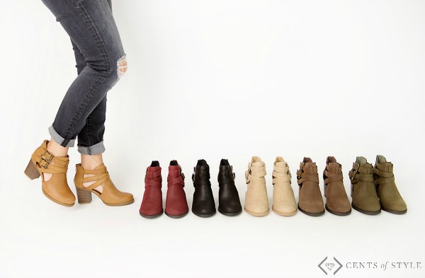 $29.95 Ankle Strap Booties