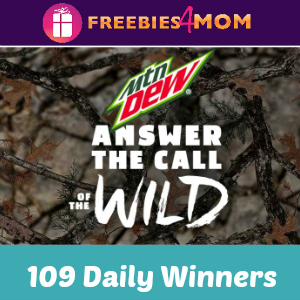 Sweeps Mtn Dew Answer the Call of the Wild