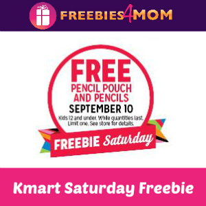 Free Pencil Pouch and Pencils at Kmart