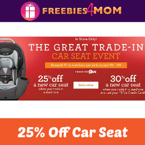 Toys R Us Great Car Seat Trade-In Event