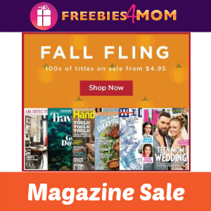 Fall Fling Magazine Sale
