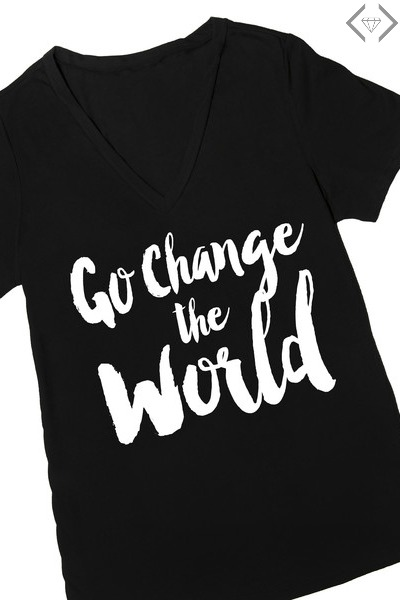 Go Change the World T-shirt $15.95