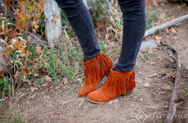 Fringe Booties for $29.95