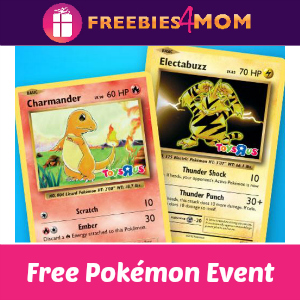 Free Pokémon Event at Toys R Us Nov. 20