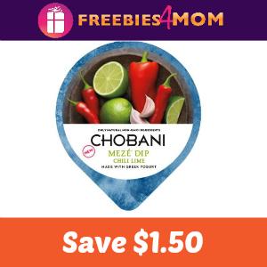 Coupon: $1.50 off one Chobani Meze Dip