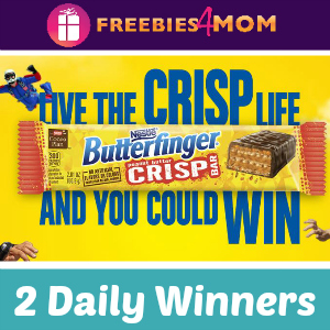 Sweeps Live the Butterfinger Crisp Life