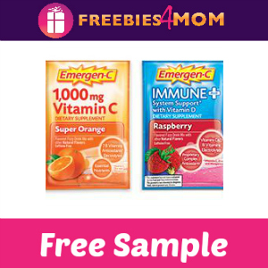 Free Sample: Emergen-C Original & Immune+