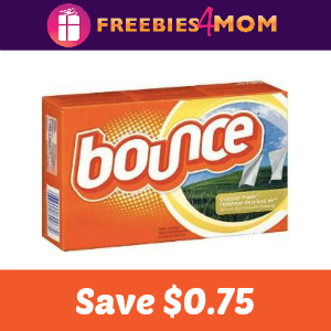 Coupon: $0.75 off one Bounce
