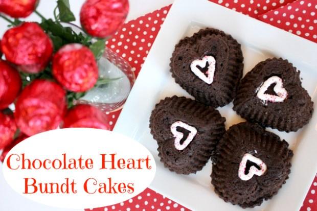 Chocolate Heart Bundt Cakes