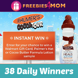 Sweeps Palmer's Cocoa Tour (38 Daily Winners)
