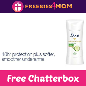 Free Chatterbox: Dove Antiperspirant