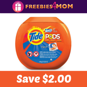 Coupon: $2.00 off one Tide Pods