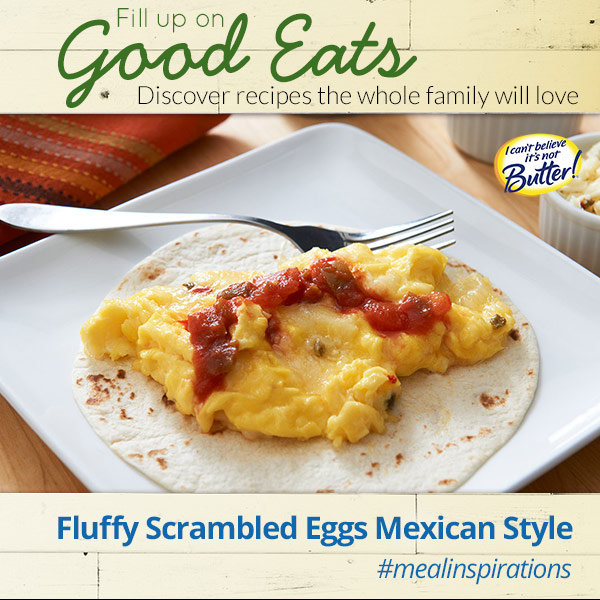 Fill up on Fluffy Scrambled Eggs Mexican Style