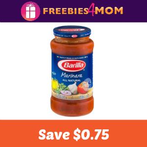 Coupon: $0.75 off one Jar Barilla Sauce