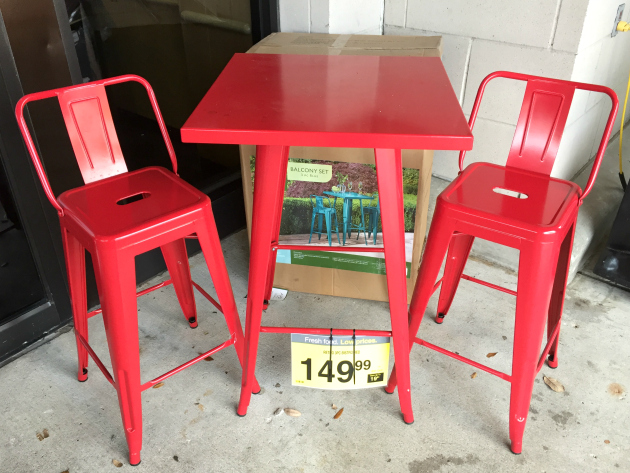 I Also Have A Soft Spot For This Red Metal Retro Bistro 3 Piece Set For  $149.99 Because I Love The Color!